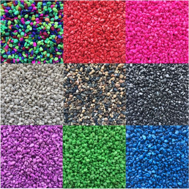 Aquarium Fish Tank Gravel Stones Substrate Coloured and Natural 2/10