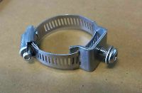 Stainless Steel Mount Bracket w/ hose clamp - Round bull ...