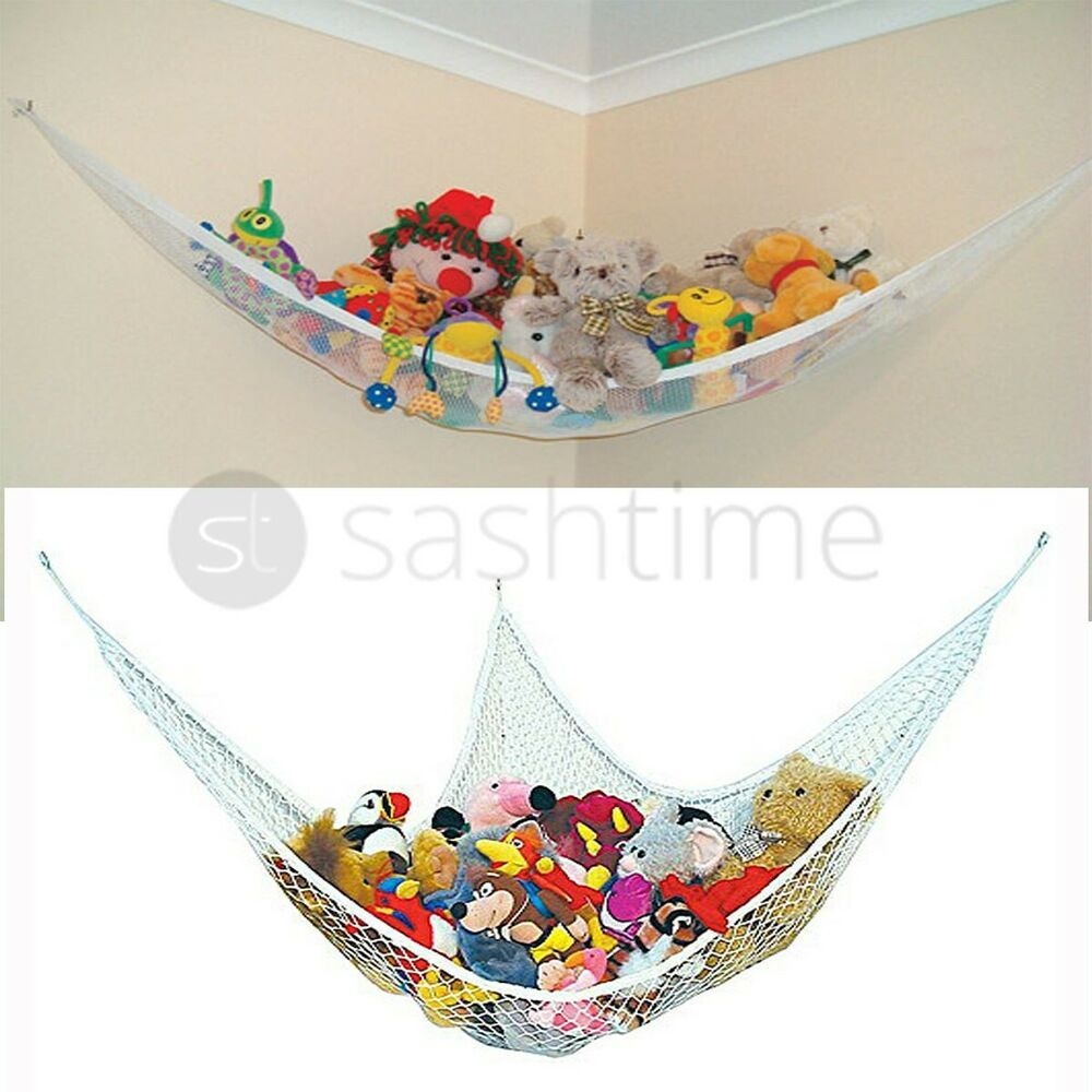 Large Soft Toy Hammock Mesh Net Teddy Bear Keep Baby