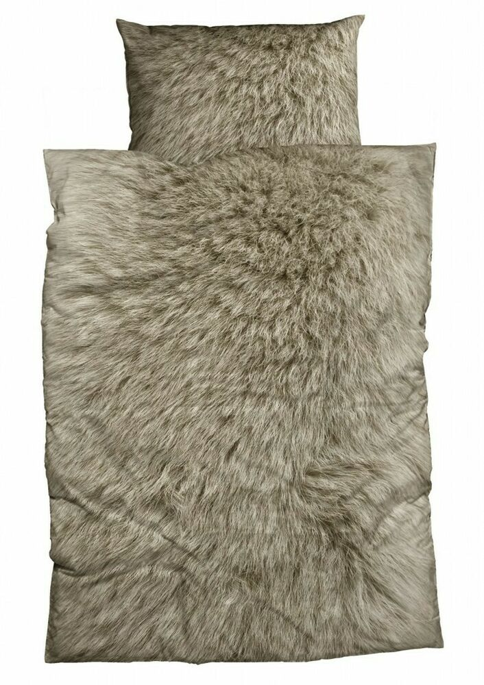 Bettwäsche Fell Casatex Bettwäsche Animal Fur Tierfellmotiv Fell Braun