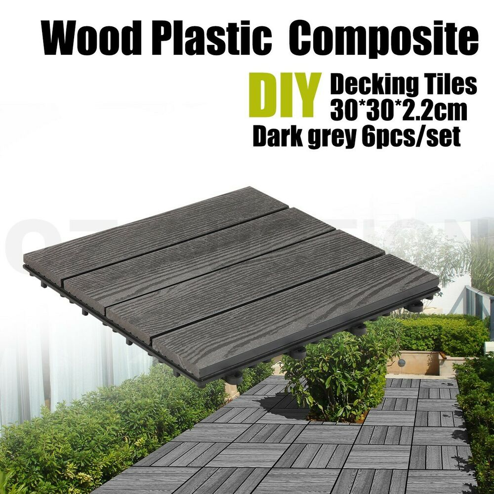 Outdoor Timber Tiles 6xdiy Wooden Plastic Composite Interlocking Decking Tiles Garden
