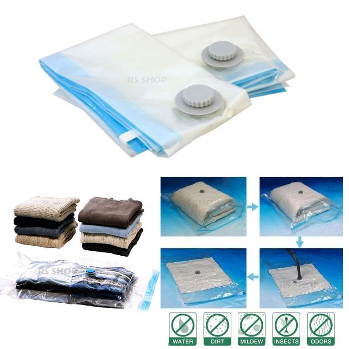 5x Space Saving Large Vacuum Bags Jumbo Pack Clothes