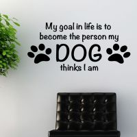 Dog Wall Quote sticker art pet grooming quote animals w172 ...