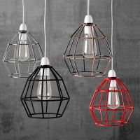 Vintage Industrial Style Metal Cage Wire Frame Ceiling ...