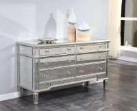 MIRRORED CONSOLE BUFFET CABINET DRESSER QUALITY DINING OR ...