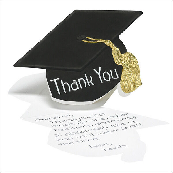 50 Graduation Hat Thank You Cards Notes High School or College eBay