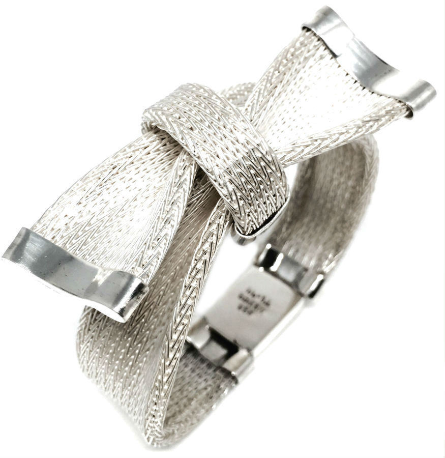 Taxco Mexican 925 Sterling Silver Deco Ribbon Motif