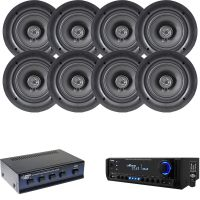 """Pyle AM FM USB SD Home Theater Receiver, 5.25"""" In-Ceiling ..."""