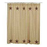 Rustic Country Primitive Landon Star Shower Curtain ...