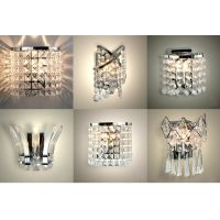 Modern Acrylic Crystal LED Indoor Wall Sconce Chandelier ...