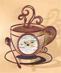 DECORATIVE KITCHEN COFFEE CUP WALL CLOCK BATTERY-OPERATED ...