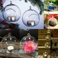 12x Crystal Glass Christmas Hanging Candle Tea Light