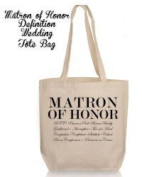 Personalized Wedding Gift Tote- Bridesmaid Matron Maid of ...