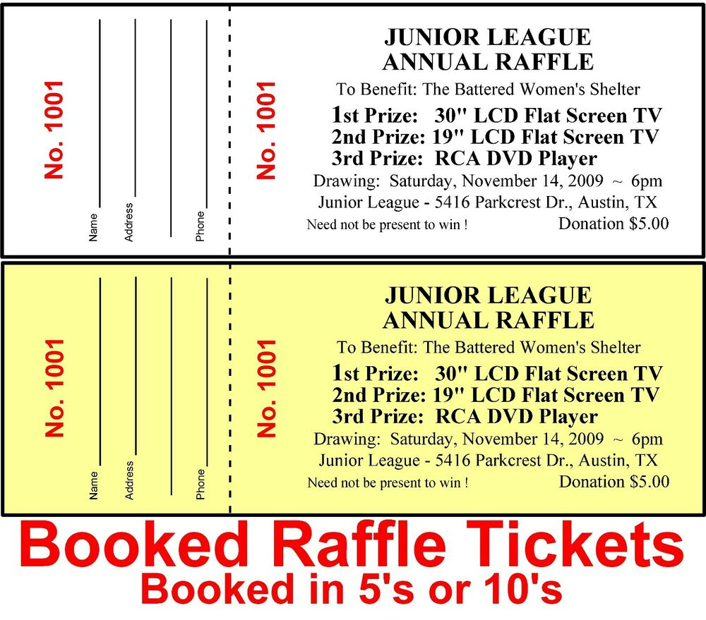 get raffle tickets printed