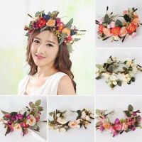 Floral Garlands Headband Women Bride Wedding Beach Flower