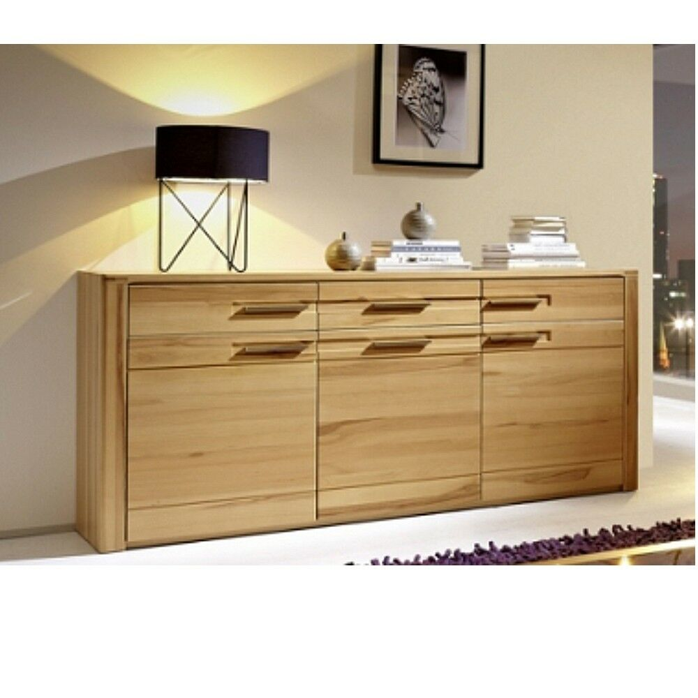 Highboard Kernbuche Teilmassiv Inkana Kernbuche Teilmassiv, Sideboard, Kommode, Highboard ...