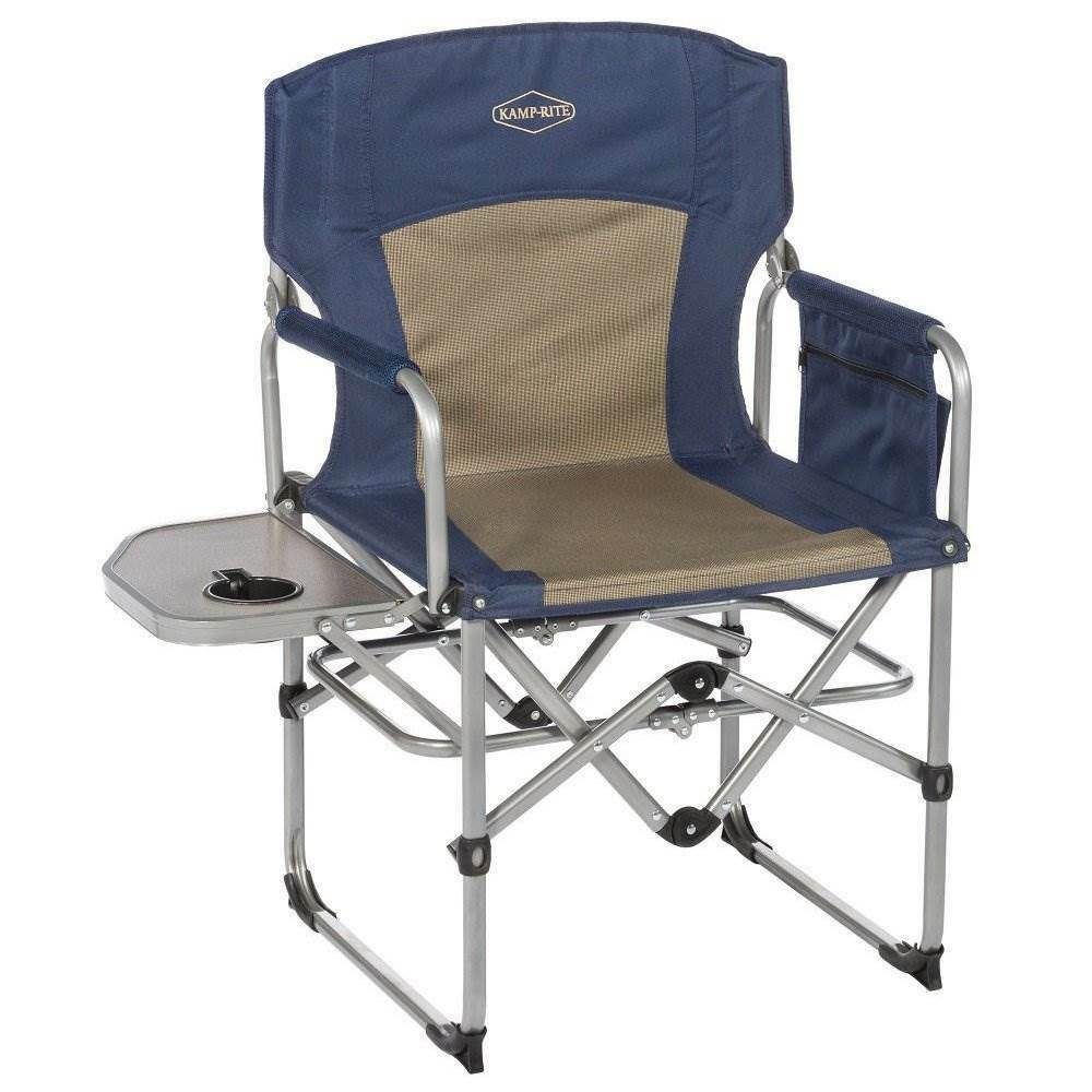 Silla De Director Kamp Rite Compact Folding Outdoor Camping Director S Chair With Side Table 696592677173 Ebay