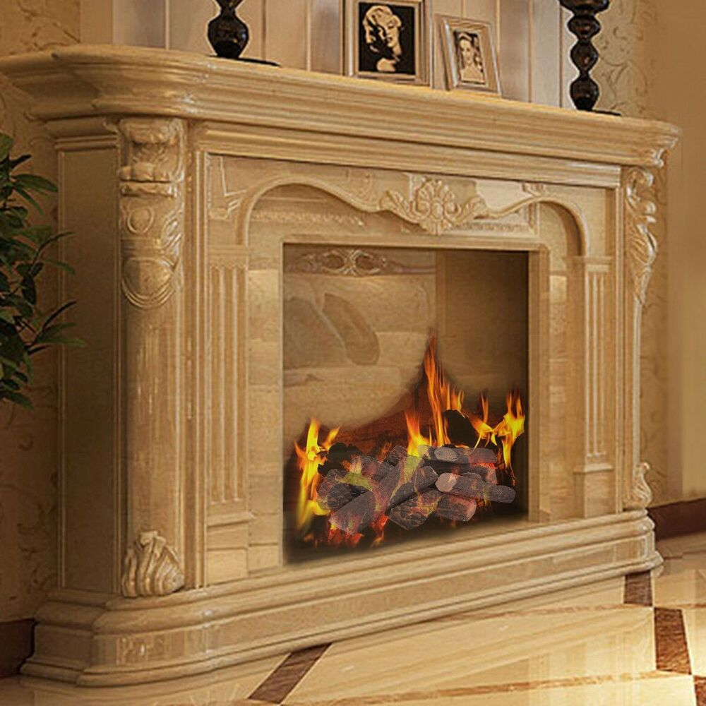Ceramic Logs For Gas Fireplace 9pcs Ceramic Fireplace Wood Like Logs For Propane Ethanol Gas Fireplace Stoves Ebay