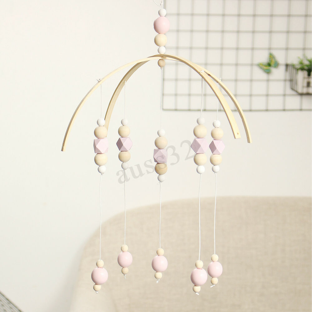 Wooden Baby Mobile Diy Wooden Beads Baby Crib Mobile Bed Bell Holder Arm Bracket Wind Up Toy Gift Ebay