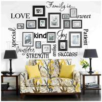 Vinyl lettering FAMILY IS sticky word quote wall art | eBay