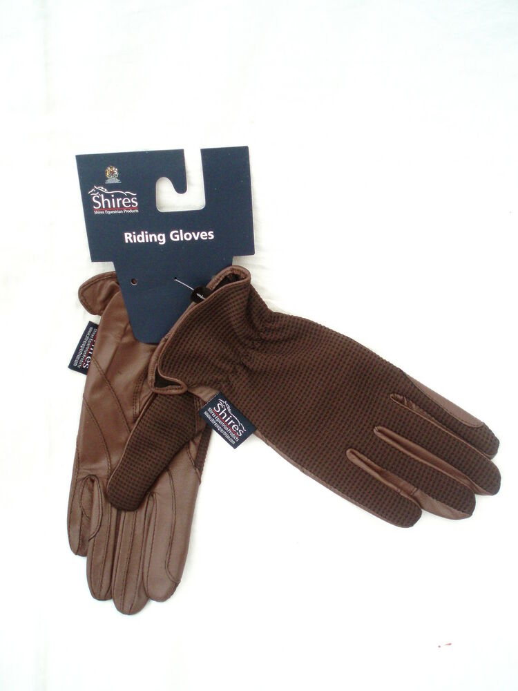 Ladies horse riding leather gloves quot chilworth quot brown extra small by