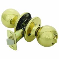 Designers Impressions Ashland Polished Brass Privacy Round ...