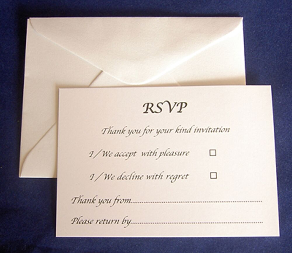 Rsvp Card Envelopes A7 Baptism Christening Birthday