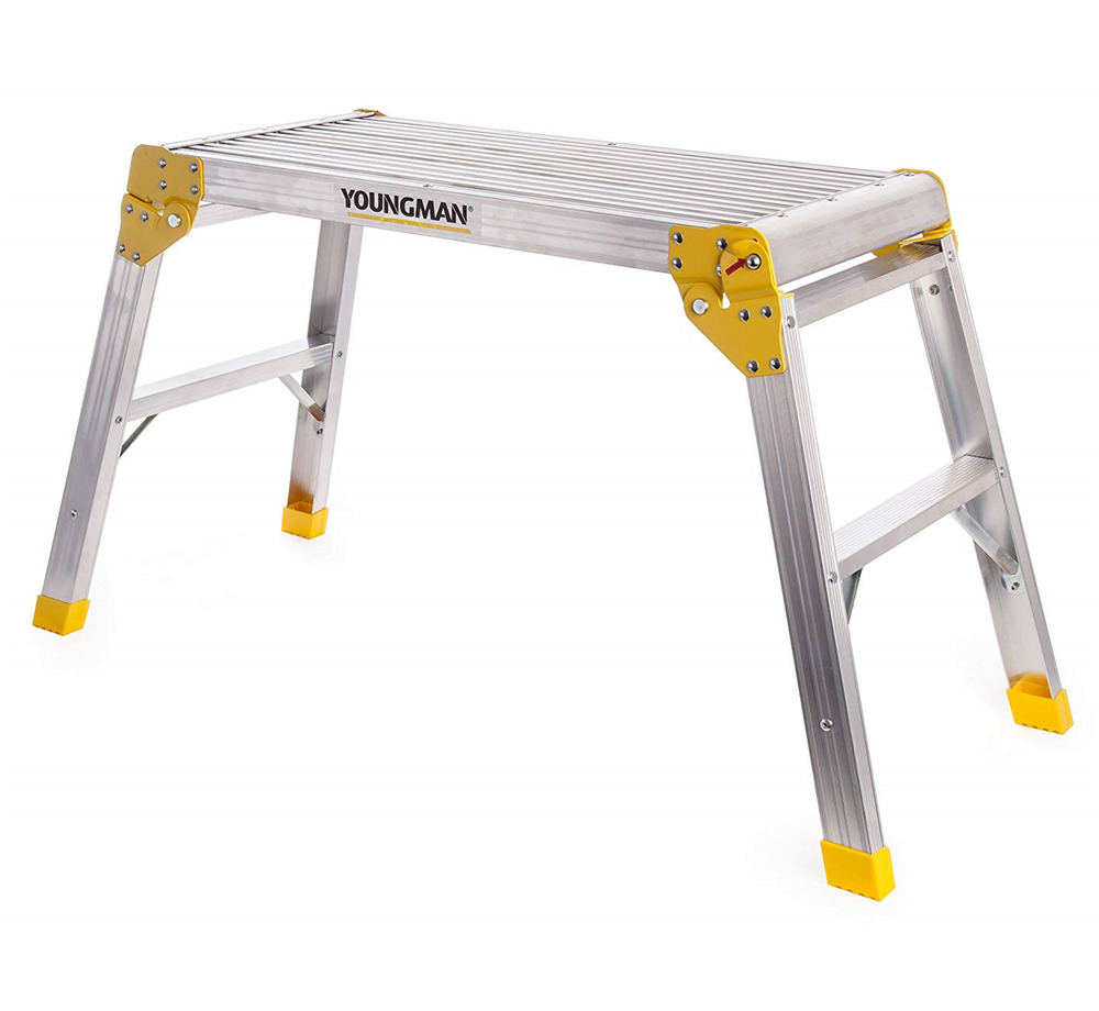 Youngman Folding Work Platform Step Hop Up Bench Ladder