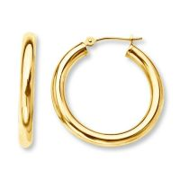 "10mm 0.4"" Baby's Infants Small Tiny Hoop Earrings Real 14K"