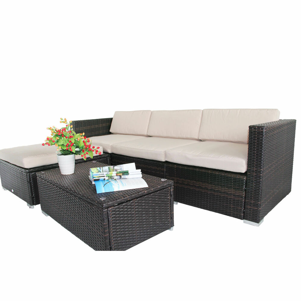 Lounge Sessel Click Rattan Garden Wicker Furniture Cushion Cover Replacement