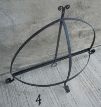 Large Oval Black Wrought Iron Pot Rack (#4) | eBay