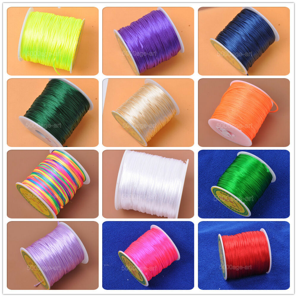 Wholesale Jewelry Rolls 80 Yards Chinese Knot Nylon Beading Thread String Jewelry