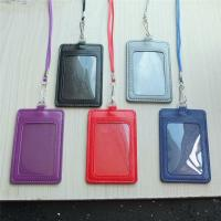 PU leather Card Badge Holder + lanyard 4 reel clip ID ...