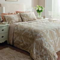 Catherine Lansfield Ombre Damask Natural Cream Duvet Quilt ...