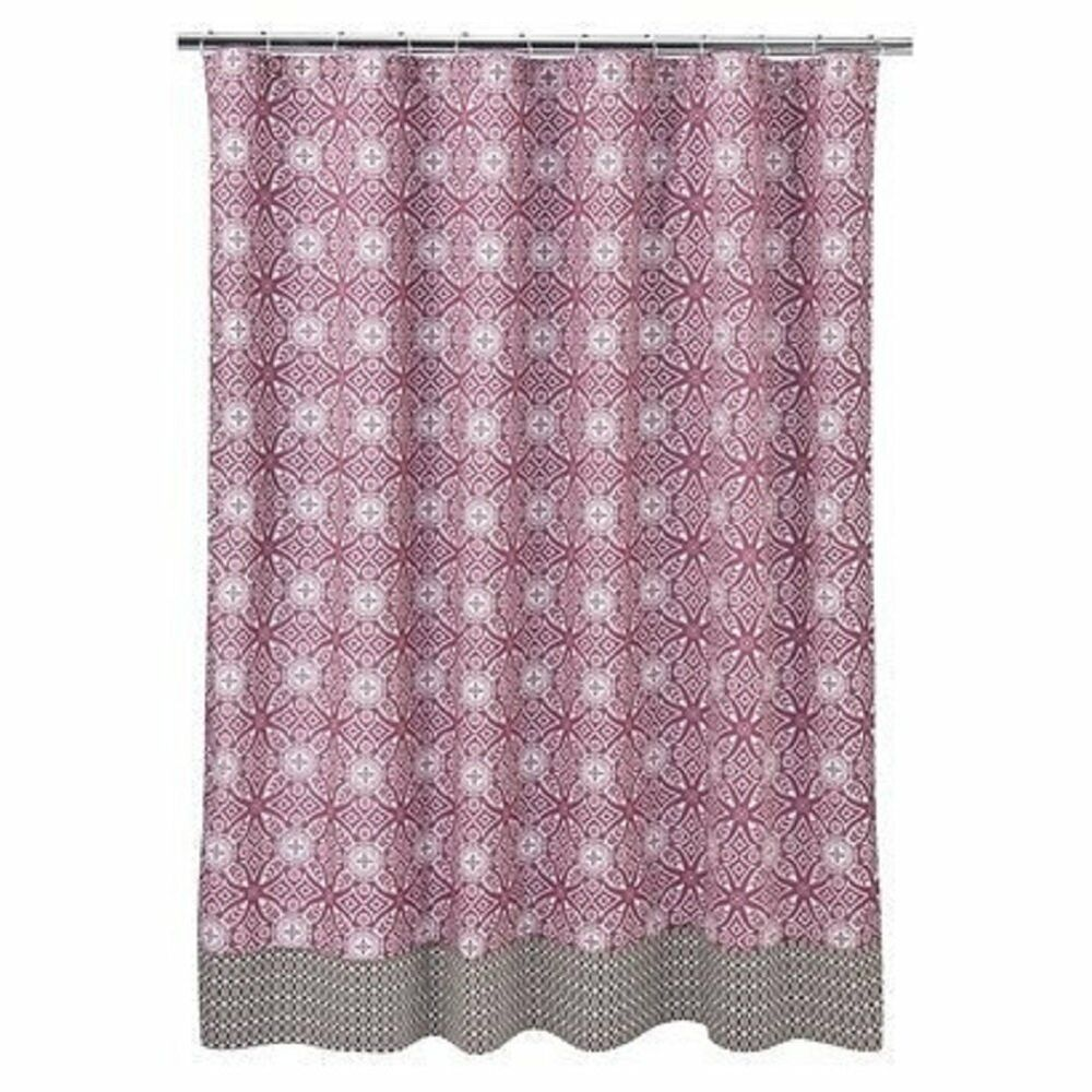 Vorhang Rosa Braun New Cocalo ~ Iris Collection Fabric Shower Curtain~pink