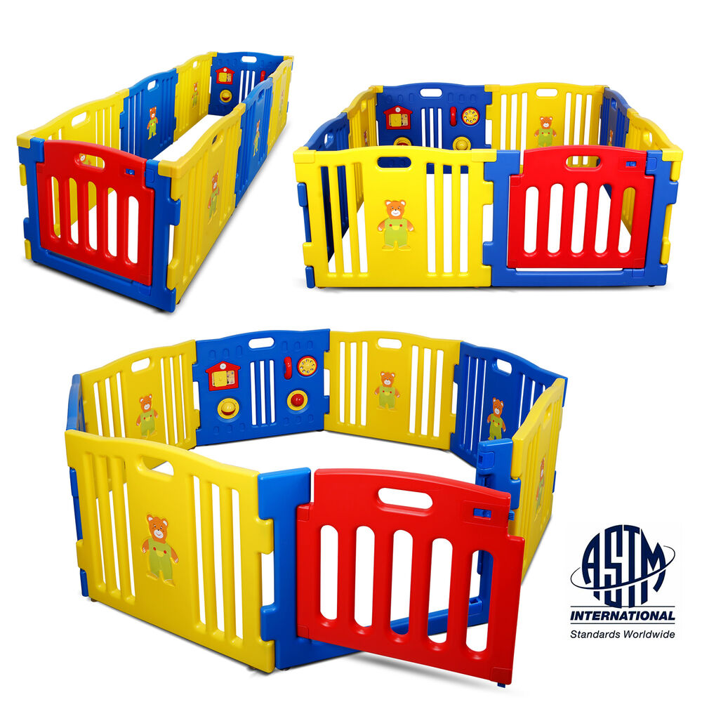 Baby Playpen Panels Baby Playpen Kids 8 Panel Safety Play Center Yard Home