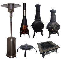 Outdoor Garden Patio Heater Chimnea Fire Pit Open Heat Gas ...