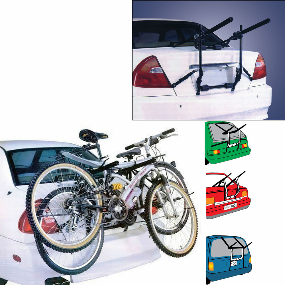 Boot Mounted Universal 2 Bicycle Carrier Car Rack Bike