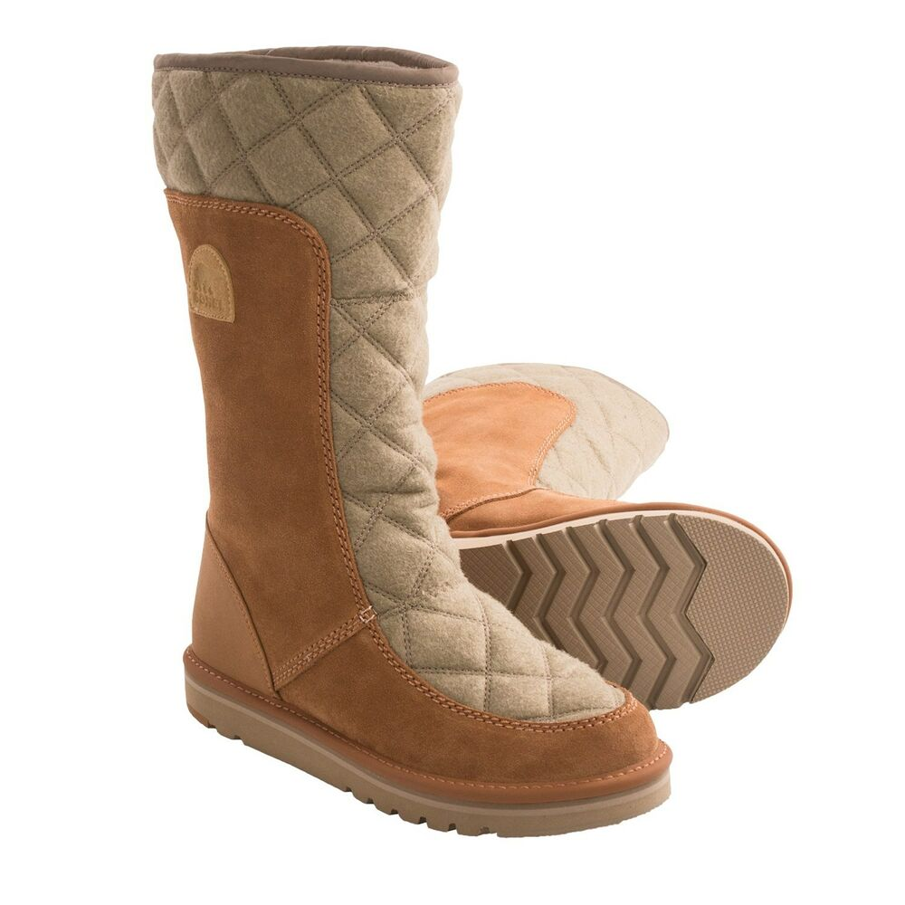 New In Box Women39s Sorel The Campus Tall Boots Suede Felt
