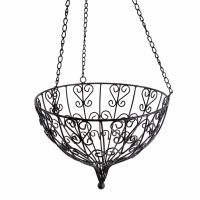 Large Decorative Round Metal Hanging Basket Garden Planter ...