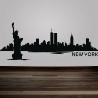New York City Wall Decal Inspiration NYC Skyline Removable ...