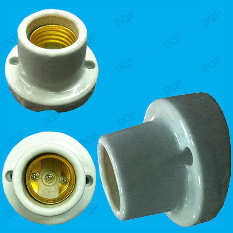 Edison Screw Angled Glazed Ceramic Bulb Holder Es E27