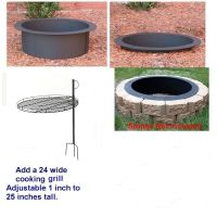 4 Pc DIY Outdoor Round Replacement Steel Fire Pit Ring Rim