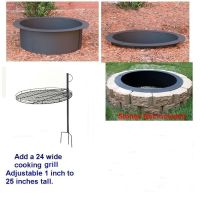 4 Pc DIY Outdoor Round Replacement Steel Fire Pit Ring Rim ...