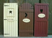 "Set 3 Primitive Country ""Outhouse"" Door Signs""Welcome ..."