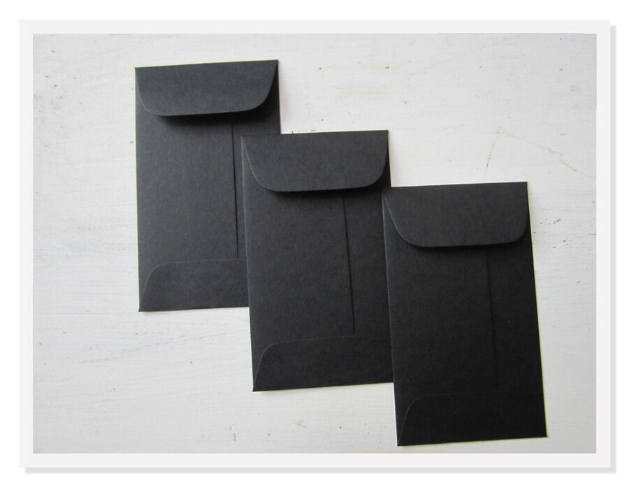 black gift card envelopes