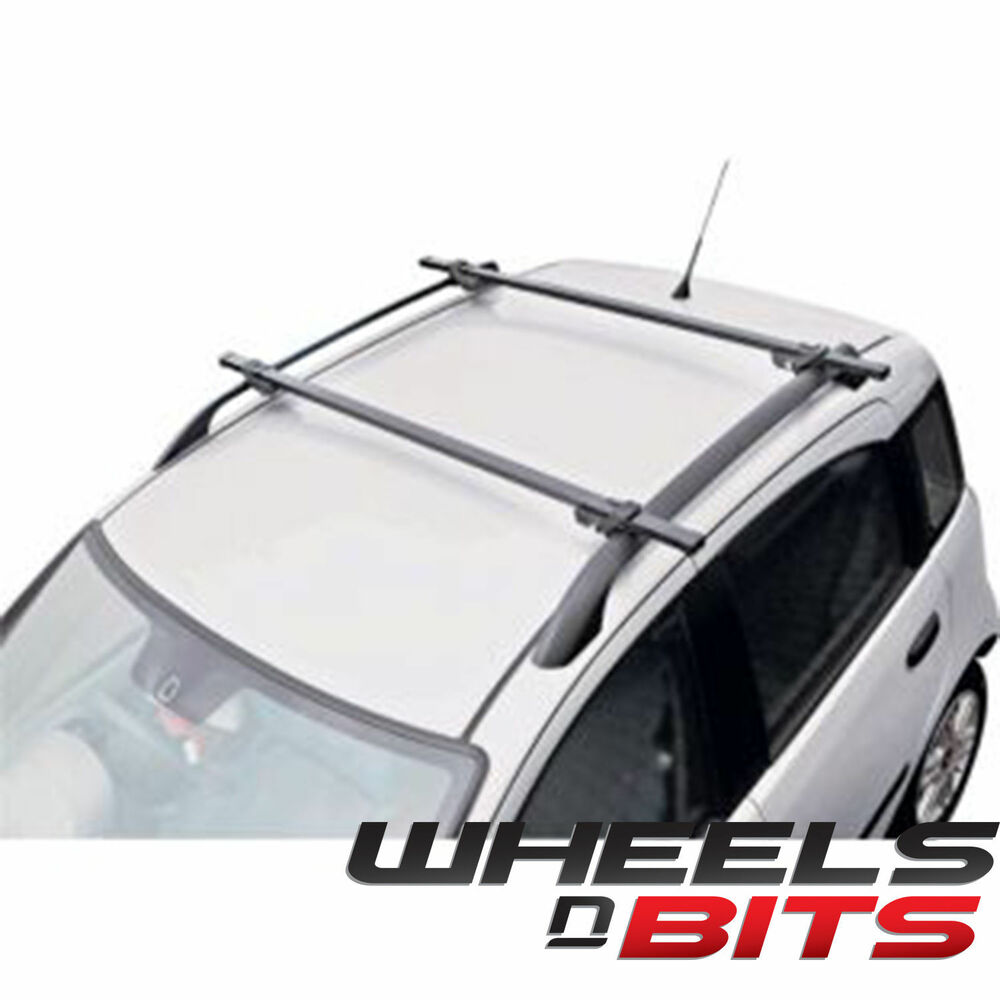 Universal Black Locking Car Roof Bars For Cars With Rails