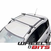 Universal Black Locking Car Roof Bars For Cars With Rails ...