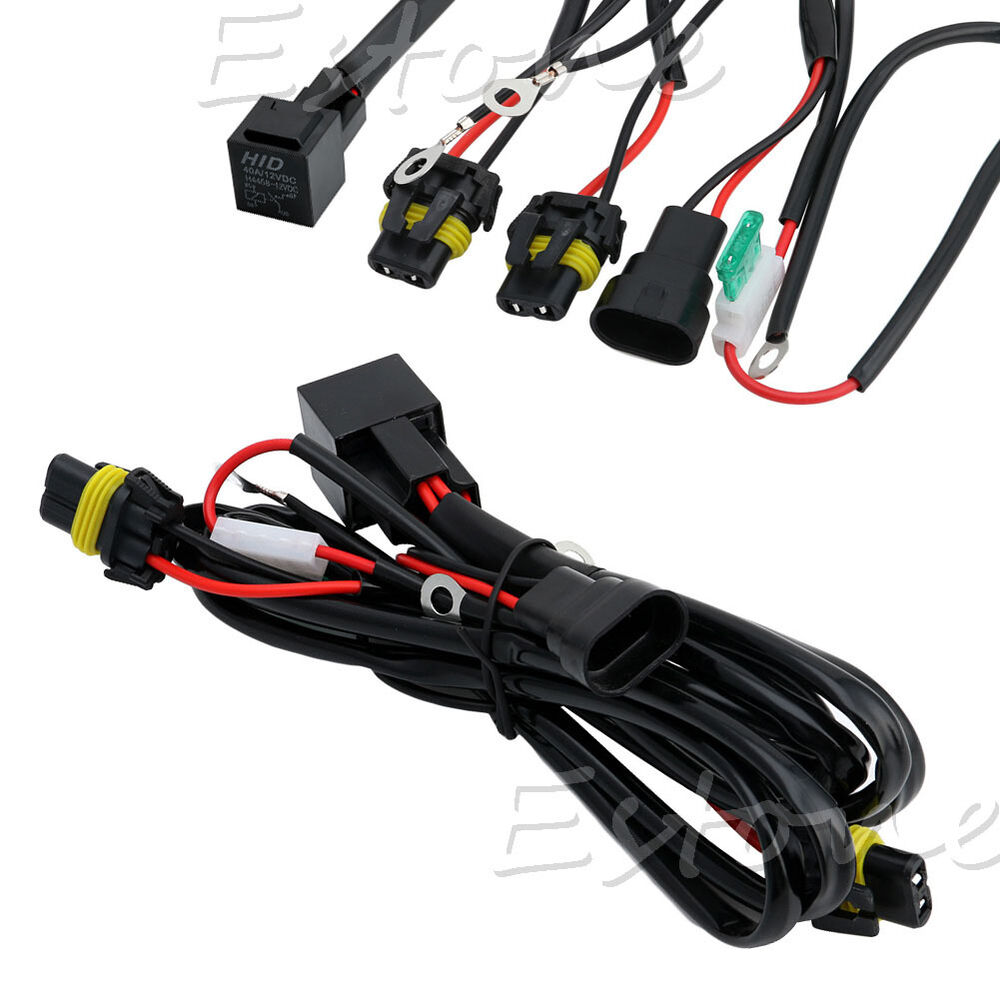 Hid Wiring Harness Auto Electrical Diagram H1 Xenon Conversion Light Relay Kit H3