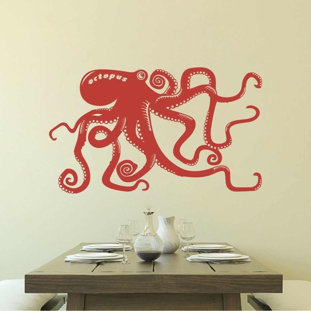 Octopus Tentacle Wall Decal Motivation Sea Ocean Animal
